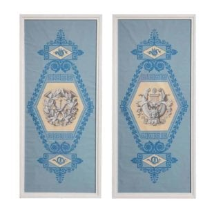 Pair of Charles X Papier Peint Wallpaper Panels