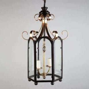 William IV Brass & Bronze Chinoiserie Lantern