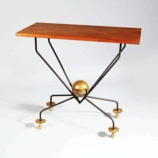 French Mid Century Vintage Console Table
