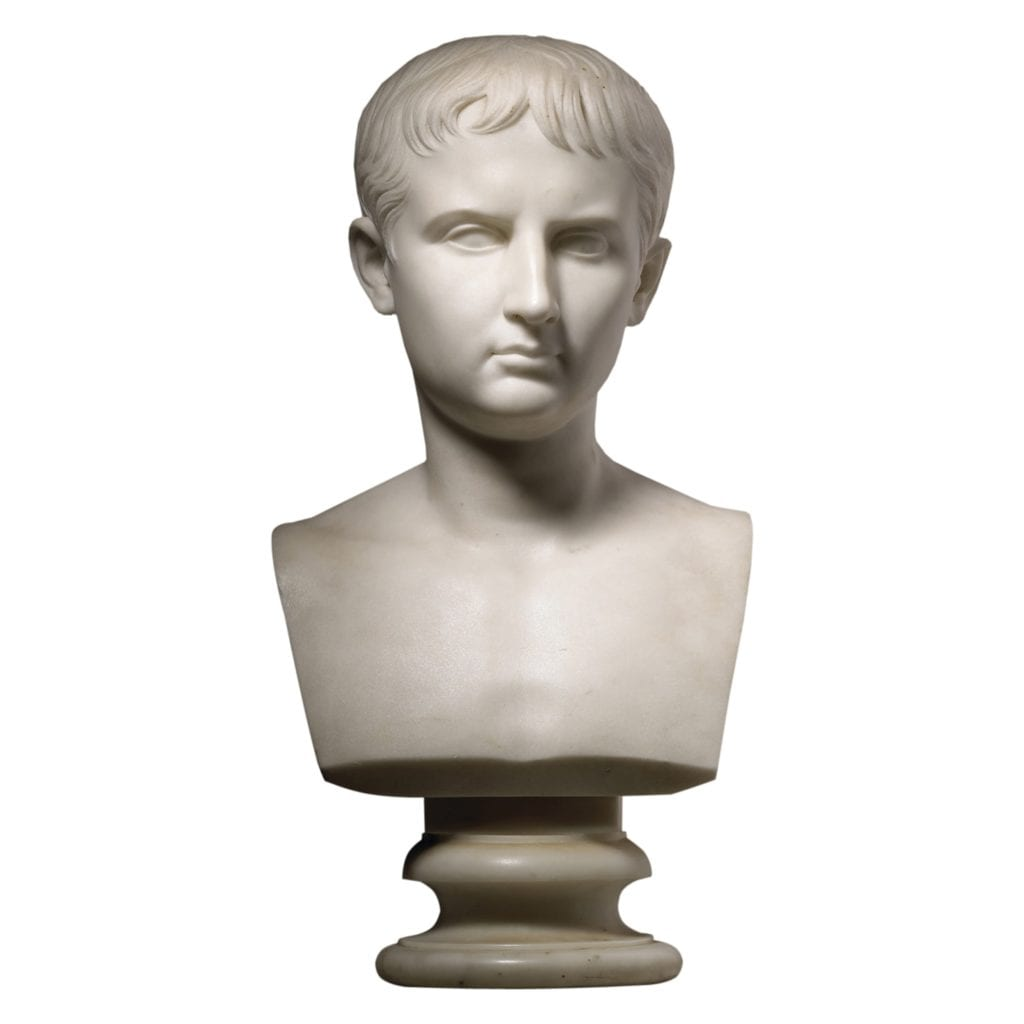 Carrera Marble Bust of Caesar by John A. MacDonald, 1858