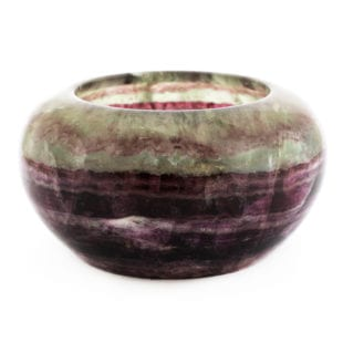 20th century polished fluorite bowl