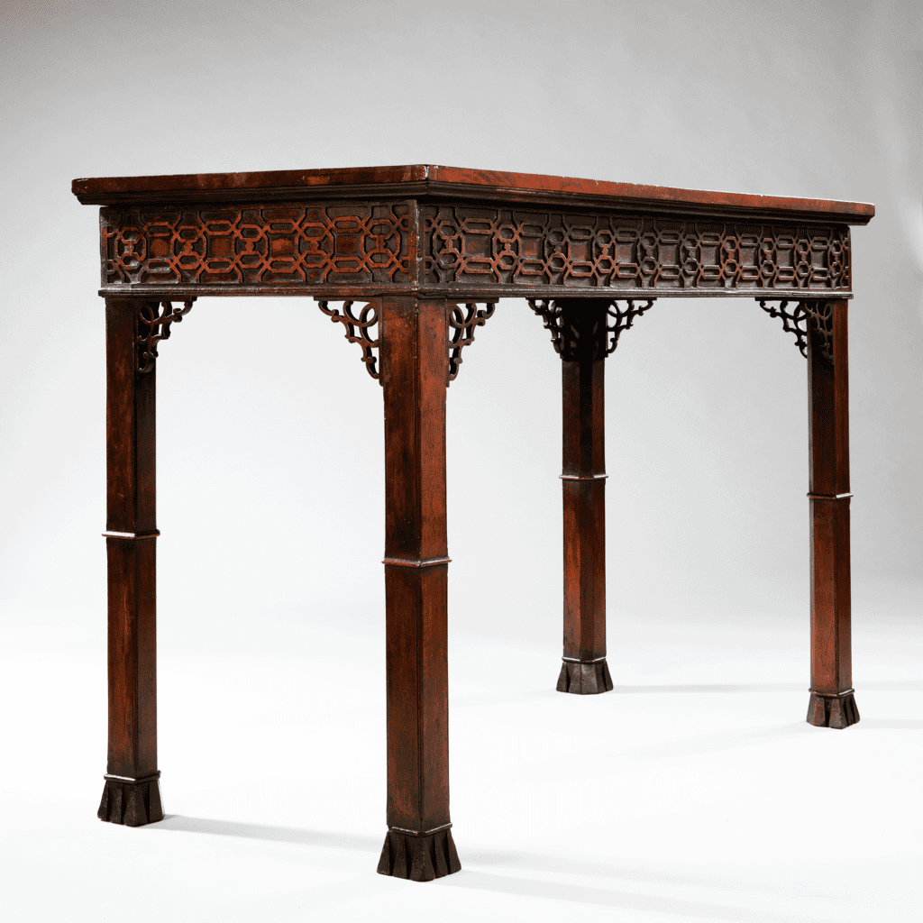 Georgian 18th century mahogany Chippendale Chinoiserie serving table fretwork