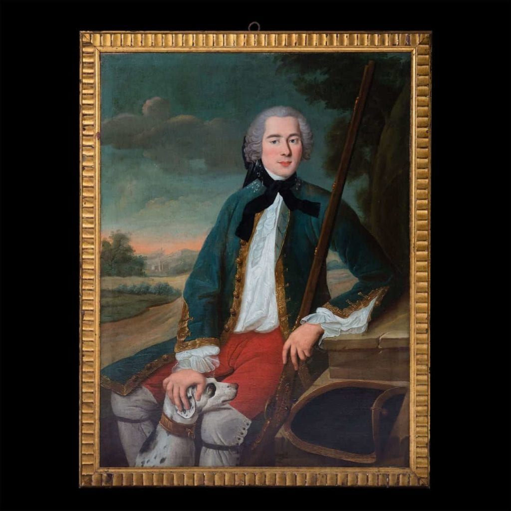 oil on canvas 18th century portrait of a gentleman in the manner of Pompeo Batoni