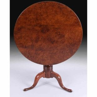 solid yew wood country tilt top table