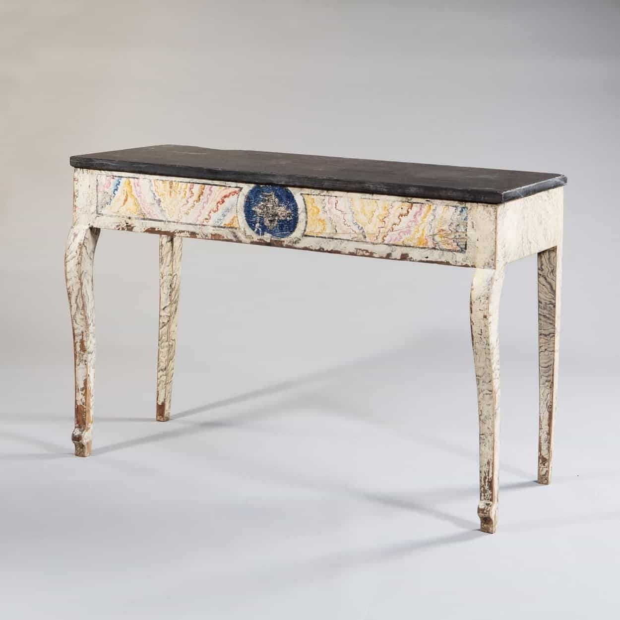 Painted Empire console table