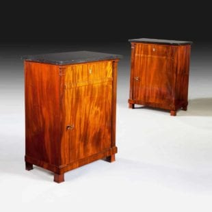 An Exceptional Pair Of French Empire Mahogany Side Cabinets