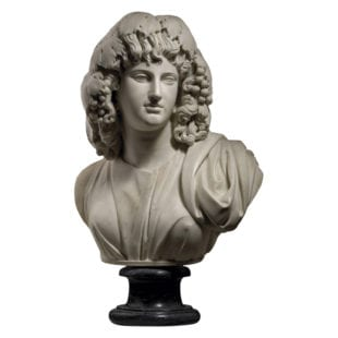 18th Century Marble Bust of Melpomene - Muse of Tragedy