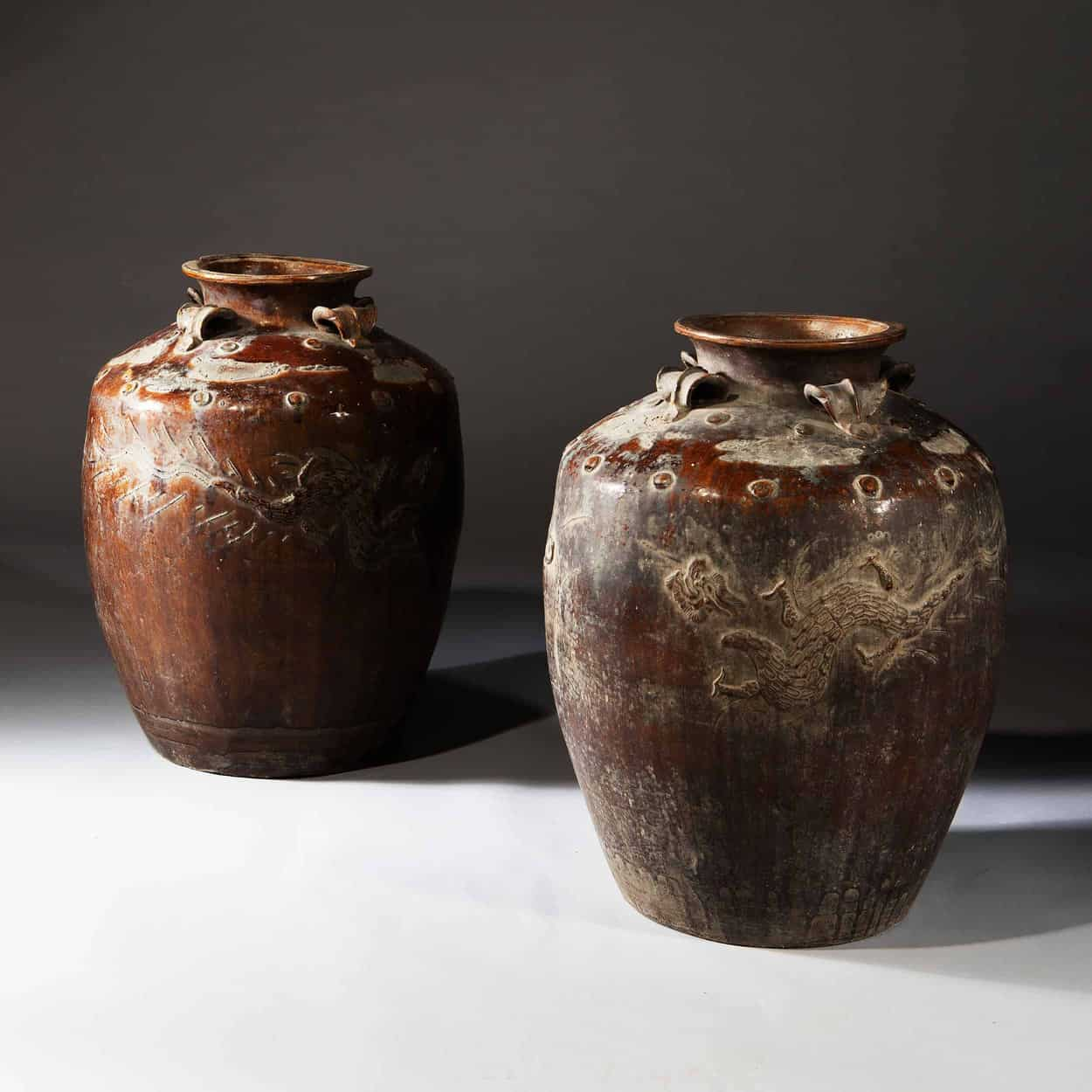 Pair Of Large Scale South Chinese Pottery Storage Jars Nicholas Wells Antiques Ltd Antique Dealers London Masterpiece Located In London