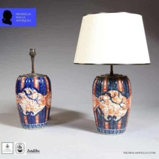 antique table lamps - Japanese Imari Vases