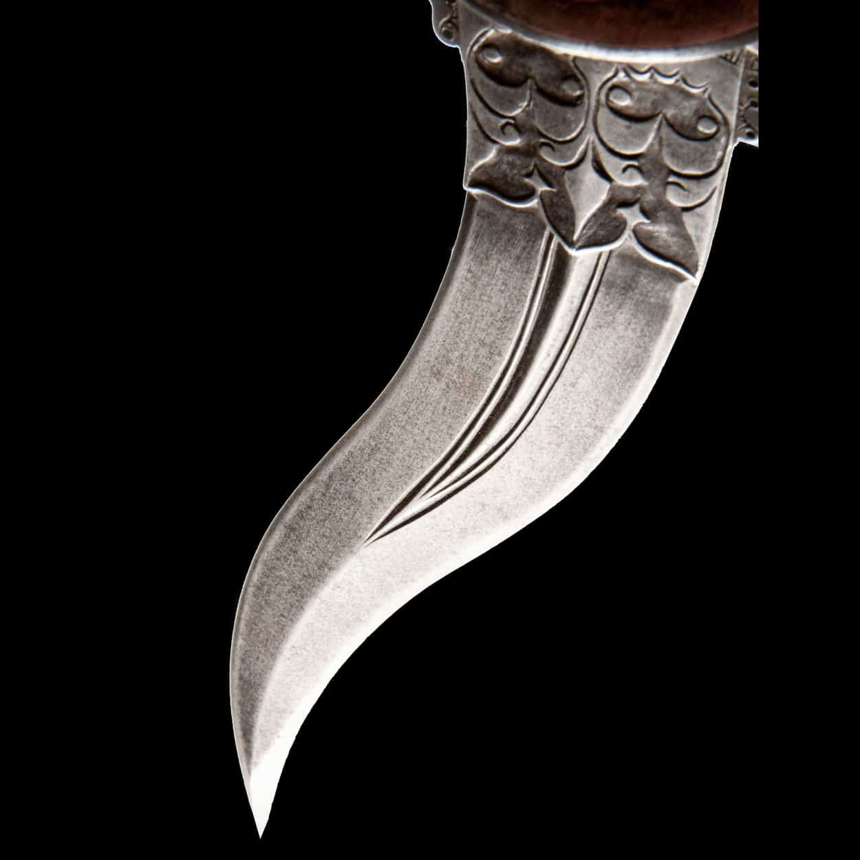 Ivory Hilted Curved Dagger Khanjarli South India 18th