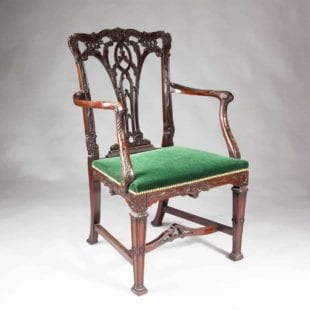 19th Century Chippendale Mahogany Armchair
