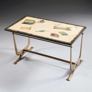 18th Century Scagliola Panel Mounted As A Low Table