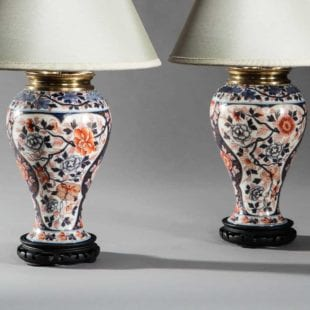 Imari antique table lamps