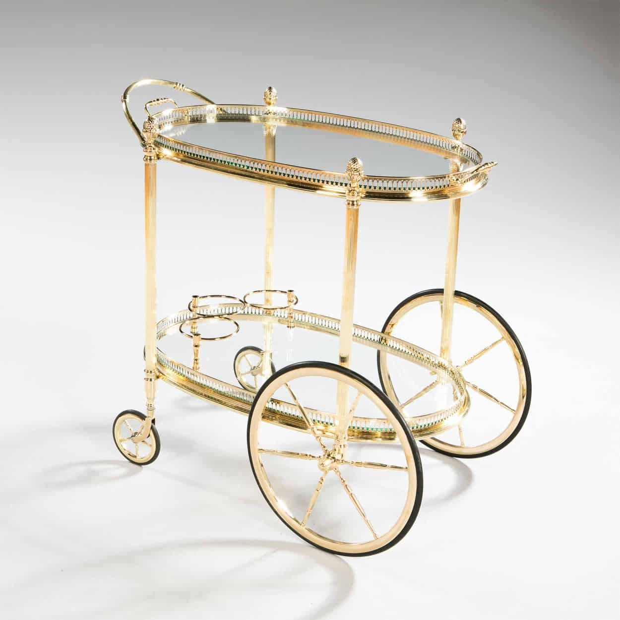 Mid Century Vintage Maison Bagues French Gold Plated Bar Cart Nicholas Wells Antiques Ltd Antique Dealers London Masterpiece Located In London