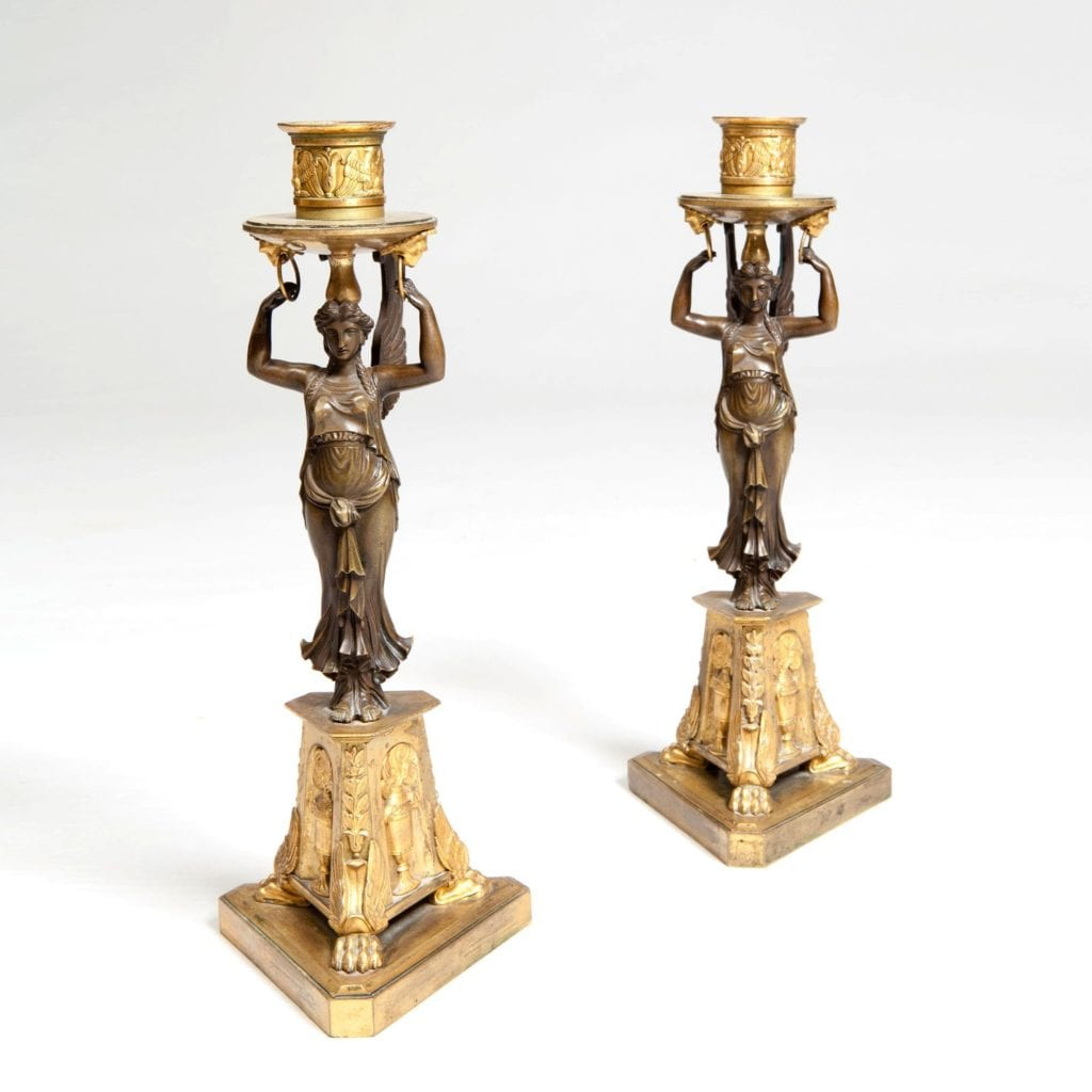 A Fine Pair Of Neo Classical Candlesticks